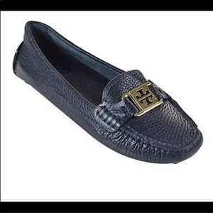 Tory Burch Kendrick tumbled leather 9 loafer